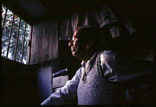 Daddy looking out of his window at 73, Indira Road. Dhaka. Shahidul Alam/Drik/Majority World