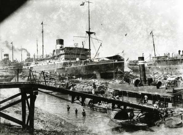 Ship at port. 1925.