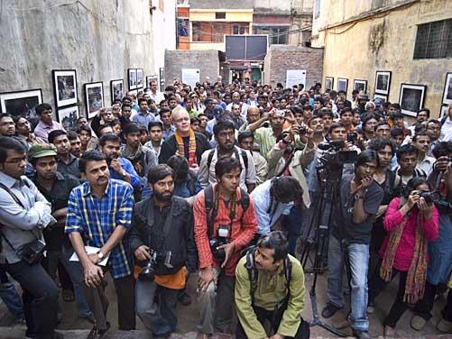 "Opening of ""Blood Splinter of Jute"" at Kalpana Boarding in Shakharipotti. Shahidul Alam/Drik/Majority World"