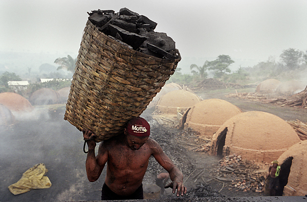 A farm producing charcoal at the border of the Amazon forest in Para state, Brazil. The Ministry of Labour is developing a pioneering activity to assign responsability for slavery cases in such farms to the pig-iron producers, as the charcoal is produced exclusively to supply these extremely profitable companies.