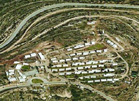 The Migron settlement in the Israeli-occupied West Bank.