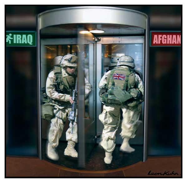 Revolving door Iraq Afghanistan. Leon Kuhn
